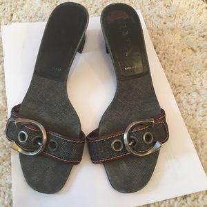 Prada sandals buckle design Italy size 7